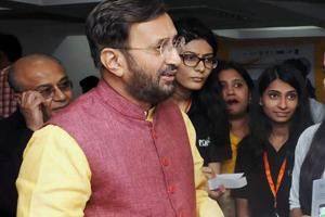 Union Minister for Human Resource Development Prakash Javadekar