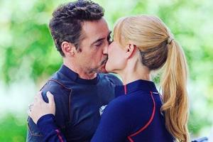 Tony Stark and Pepper Potts played by Robert Downey Jr and Gwyneth Paltrow in Avengers: Infinity War.