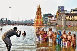 Kumbha mela is a religious gathering that takes place periodically at four locations across the country every three years.