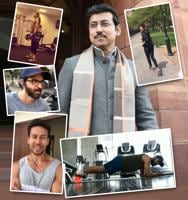 Many Bollywood celebrities and sportspersons have taken up Union Minister Rajyavardhan Rathore's fitness challenge and uploaded their videos on social media.