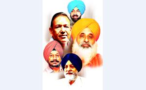 (Clockwise from top) Kahan Singh Pannu, chairman of Punjab Pollution Control Board (PPCB); Baba Balbir Singh Seechewal, environmentalist; IS Paul, chairman of Drish Shoes;  Birinderjit Singh, environment engineer who worked in the PPCB and Sachit Jain, chairman of CII (northern region).