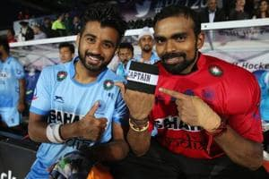 Hockey India's camp for the FIHChampions Trophy will have six goalkeepers including PR Sreejesh (right), who replaced Manpreet Singh as the Indian hockey team skipper.