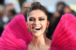 Deepika Padukone poses at the 71st edition of the Cannes Film Festival.