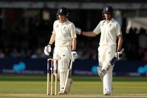 Jos Buttler's seventh Test fifty and a half-century on debut by Dominic Bess helped England take a lead of 56 against Pakistan in the Lord's Test.