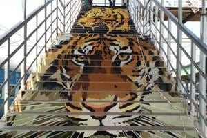Ballarshah and Chandrapur, the two stations leading to the Tadoba national park in Maharashtra, tied in first place. 'So many people have come and stood stunned in front of the tiger painting before going up the steps,' says Milind Atkale, an art student who helped beautify the Ballarshah station.