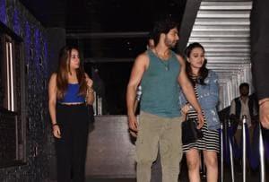 Varun Dhawan dines with rumoured girlfriend Natasha Dalal.
