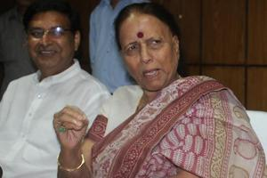 Congress MLAand leader of opposition in Uttarakhand assembly, Indira Hridayesh (right), hit out at the BJPgovernment for changing the name of the cricket stadium in Dehradun.