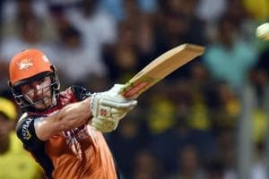 Kane Williamson in action during the 2018 Indian Premier League (IPL) final between Chennai Super Kings and Sunrisers Hyderabad at the Wankhede Stadium on Sunday.