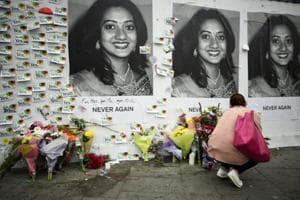 Messages are left at a memorial to Savita Halappanavar a day after an Abortion Referendum to liberalise abortion laws was passed by popular vote, in Dublin, Ireland May 27, 2018.
