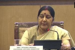 Union external affairs minister Sushma Swaraj was addressing media personnel on the completion of four years of the Narendra Modi government and released a book on the achievements of her ministry along with junior ministers VK Singh and MJ Akbar.