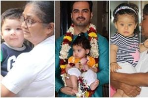A host of babies of Bollywood stars were photographed in Mumbai on Sunday.