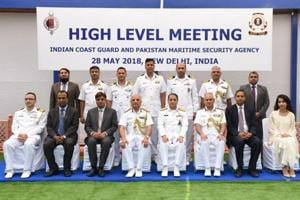 A high level meeting between the Coast Guard of India and the Pakistan Maritime Security Agency was held at the Coast Guard Headquarters on Monday.