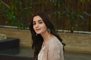 Alia Bhatt during a promotional event for her film Raazi in New Delhi on Tuesday.