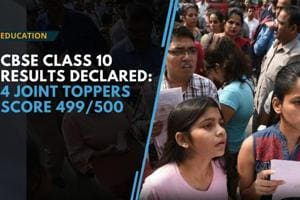 Watch video: CBSE Class 10 result declared, four joint toppers score 49...