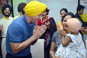 Brett Lee was in Amritsar to participate in the launch of the Universal Newborn Hearing Screening (UNHS) programme on Monday.