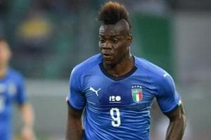 Italy forward Mario Balotelli controls the ball during the friendly football match against Saudi Arabia on Tuesday.