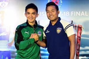 Sunil Chhetri (L) and Jeje Lalpekhlua have done well for India whenever the two have played together.