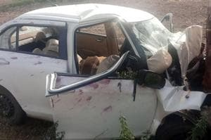 The car met with an accident at Rurki village in Fatehgarh Sahib on Tuesday.