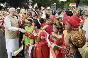 Addressing the Indian diaspora at Jakarta, PM Modi said his government's first priority was to make India corruption free, citizen-centric and development friendly.