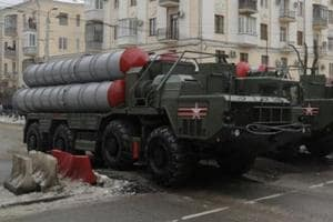 Russian S-400 missile air defence systems drive during the military parade to commemorate the 75th anniversary of the battle of Stalingrad in World War Two, in the city of Volgograd, Russia.