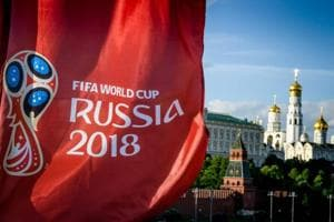 Schedule of FIFA World Cup 2018 stretches over a month from June 14-July 15, 2018. A photograph taken on May 30, 2018 shows the FIFA World Cup 2018 flag in front of the Kremlin in Moscow.