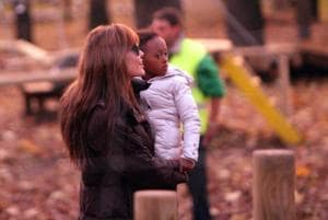 Angelina Jolie with daughter Zahara in this photo from 2010.