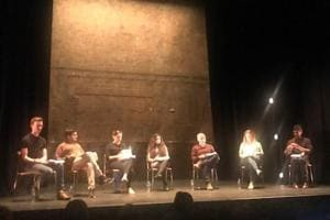 A reading of Hanif Kureishi's major play Borderline staged at the Royal Court Theatre in London on Thursday.