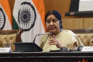External affairs minister Sushma Swaraj quoted PM Modi as saying to British PM Theresa May that UK courts should not question about the condition of Indian jails where they kept Gandhi and Nehru.