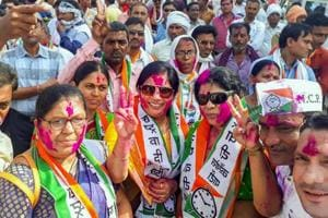 NCP workers celebrate their party
