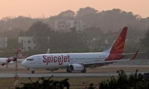The SpiceJet flight was carrying 188 passengers.
