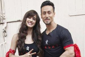 Rumoured to be a couple in real life, actors Disha Patani and Tiger Shroff were seen together in Baaghi 2.