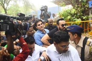 Actor-producer Arbaaz Khan appears before the Thane Anti-Extortion Cell in connection an IPL betting case probe.