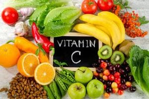 Vitamin C is a water soluble vitamin that is required in protein metabolism.