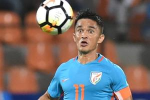 Sunil Chhetri will become the second Indian football team player to play 100 games after Bhaichung Bhutia.