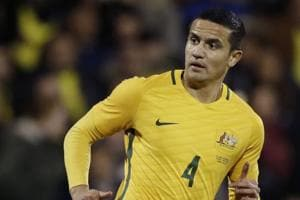 The 38-year-old Tim Cahill  was chosen on June 3, 2018, by coach Bert van Marwijk among 23 players set to play in the FIFAWorld Cup 2018 in Russia for the Australian football team.