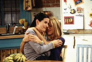 Jennifer Aniston and Courtney Cox played best friends on Friends.