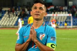 Sunil Chhetri found support from Sachin Tendulkar and Shikhar Dhawan as they urged fans to watch the Indian football team in action.