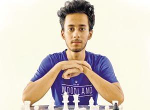 Himal Gusain during a rapid chess meet in Jalandhar.