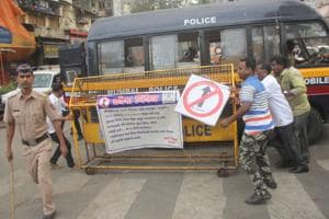 Local Shiv Sena activists oppose the one-way plan.