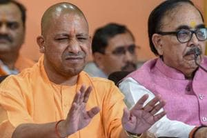Uttar Pradesh chief minister Yogi Adityanath refused to take a gold chain with rudraksha beads offered as a gift by party MLA, Ravindra Nath Tripathi at a public function in Bhadohi on Sunday.