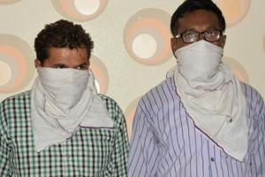 The two alleged Naxals arrested from Kicha on Sunday.