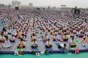 The Ayush ministry has contacted Isro for the satellite imagery of the main event on the International Yoga Day.