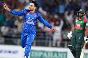 Rashid Khan was the star for Afghanistan with the ball picking up four wickets.