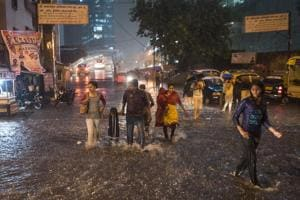 On Monday night, the city recorded 30 minutes and nearly 50 mm of rain, causing water-logging in many areas.