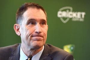 Cricket Australia chief James Sutherland during a press conference in Melbourne on June 6, 2018, where he announced he will stand down in the wake of a ball-tampering scandal that rattled the game.