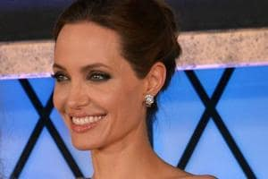Angelina Jolie at the Japan premiere of the movie Maleficent in Tokyo.