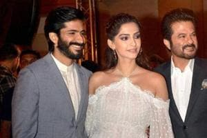 Sonam with father Anil and brother Harshvardhan Kapoor.
