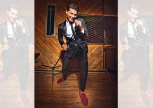 (Vaibhav) Suit, shirt and necktie, Rohit Gandhi + Rahul Khanna; pocket square and cufflinks, Hackett London; velvet shoes, Christian Louboutin. Styling by Shamali Singh; Art direction: Amit Malik; Make-up and hair: Vidya Tikari Studio; Models: Sitara, Sonal and Saad from TSS Talents India, Nathalia from Auraa models and Vaibhav; Location Courtesy: Lord of the Drinks