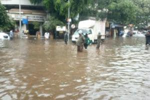 Several parts of Mumbai were flooded after moderate rainfall on Thursday.
