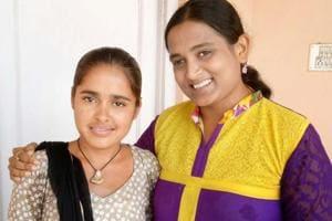 Pintu Devi (left) with  Dr Kriti Bharti.